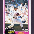 1981 Topps Baseball #392 Lance Parrish - Detroit Tigers