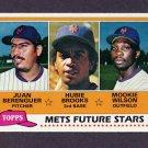 1981 Topps Baseball #259 Juan Berenguer / Hubie Brooks RC / Mookie Wilson RC - New York Mets