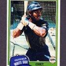 1981 Topps Baseball #242 Chet Lemon - Chicago White Sox