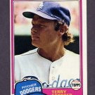 1981 Topps Baseball #104 Terry Forster - Los Angeles Dodgers ExMt