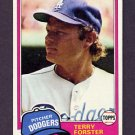 1981 Topps Baseball #104 Terry Forster - Los Angeles Dodgers Ex