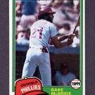 1981 Topps Baseball #090 Bake McBride - Philadelphia Phillies NM-M