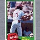 1981 Topps Baseball #090 Bake McBride - Philadelphia Phillies ExMt