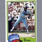 1981 Topps Baseball #070 Al Oliver - Texas Rangers
