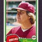 1981 Topps Baseball #040 Tug McGraw - Philadelphia Phillies Ex