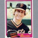 1981 Topps Baseball #011 Jim Wohlford - San Francisco Giants