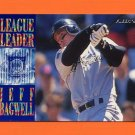 1995 Fleer Baseball League Leaders #08 Jeff Bagwell - Houston Astros
