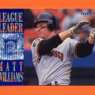 1995 Fleer Baseball League Leaders #07 Matt Williams - San Francisco Giants