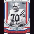 2008 Topps Football Honor Roll #HRAD Art Donovan - Baltimore Colts