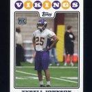 2008 Topps Football #439 Tyrell Johnson RC - Minnesota Vikings