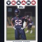 2008 Topps Football #419 Xavier Adibi RC - Houston Texans