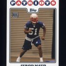 2008 Topps Football #411 Jerod Mayo RC - New England Patriots