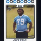 2008 Topps Football #389 Jeff Otah RC - Carolina Panthers