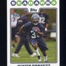 2008 Topps Football #362 Justin Forsett RC - Seattle Seahawks