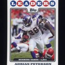 2008 Topps Football #290 Adrian Peterson LL - Minnesota Vikings
