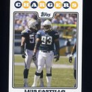 2008 Topps Football #224 Luis Castillo - San Diego Chargers