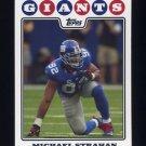 2008 Topps Football #219 Michael Strahan - New York Giants