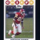 2008 Topps Football #122 Dwayne Bowe - Kansas City Chiefs