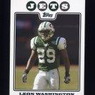 2008 Topps Football #105 Leon Washington - New York Jets