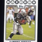 2008 Topps Football #096 LaMont Jordan - Oakland Raiders
