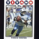 2008 Topps Football #036 Vince Young - Tennessee Titans