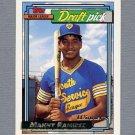 1992 Topps Baseball Gold Winners #156 Manny Ramirez RC - Cleveland Indians