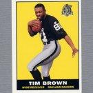 1996 Topps Football 40th Anniversary Retros #06 Tim Brown - Oakland Raiders