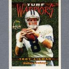 1996 Topps Football Turf Warriors #TW22 Troy Aikman - Dallas Cowboys