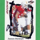 1995 Score Football #268 James O. Stewart RC - Jacksonville Jaguars