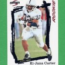 1995 Score Football #261 Ki-Jana Carter RC - Cincinnati Bengals