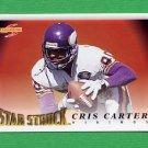 1995 Score Football #213 Cris Carter SS - Minnesota Vikings