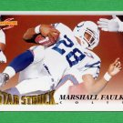1995 Score Football #209 Marshall Faulk SS - Indianapolis Colts
