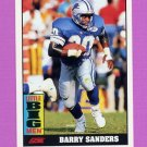 1992 Score Football #528 Barry Sanders LBM - Detroit Lions