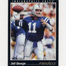 1993 Pinnacle Football #326 Jeff George - Indianapolis Colts ExMt