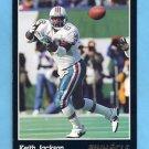 1993 Pinnacle Football #300 Keith Jackson - Miami Dolphins