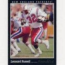 1993 Pinnacle Football #136 Leonard Russell - New England Patriots