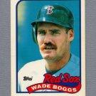 1989 Topps Baseball Tiffany #600 Wade Boggs - Boston Red Sox