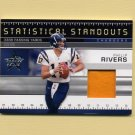 2007 Leaf Rookies and Stars Statistical Standouts Materials Prime #07 Philip Rivers Game-Used Patch