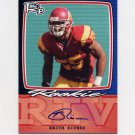 2008 Topps Rookie Progression Football Signatures #KR Keith Rivers - Cincinnati Bengals AUTO