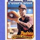 1989 Topps Baseball #648 Sandy Alomar Jr. RC - San Diego Padres