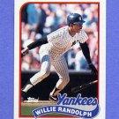 1989 Topps Baseball #635 Willie Randolph - New York Yankees
