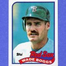 1989 Topps Baseball #600 Wade Boggs - Boston Red Sox