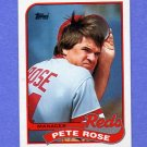 1989 Topps Baseball #505 Pete Rose MG / Cincinnati Reds Team Checklist
