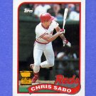 1989 Topps Baseball #490 Chris Sabo RC - Cincinnati Reds