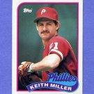1989 Topps Baseball #268 Keith Miller RC - Philadelphia Phillies