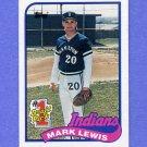 1989 Topps Baseball #222 Mark Lewis RC - Cleveland Indians