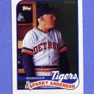 1989 Topps Baseball #193 Sparky Anderson MG / Detroit Tigers Team Checklist