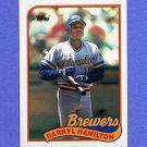 1989 Topps Baseball #088 Darryl Hamilton RC - Milwaukee Brewers