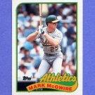 1989 Topps Baseball #070 Mark McGwire - Oakland A's
