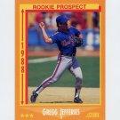 1988 Score Baseball #645 Gregg Jefferies RC - New York Mets